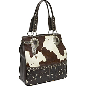 American West Hair On Hide Cow Carryall Bag